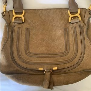 Chloé Medium Marcie satchel w/ gold-tone hardware